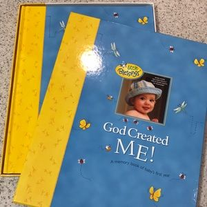 God created me! A memory book of baby's first year